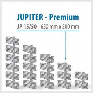 JUPITER PREMIUM Silver - BADHEIZKÖRPER MITTELANSCHLUSS HEIZKÖRPER (Höhe: 650 mm, Breite: 500 mm)