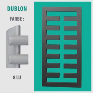 DUBLON - BADHEIZKÖRPER MITTELANSCHLUSS HEIZKÖRPER (Farbe: 8LU, Höhe: 450 mm)