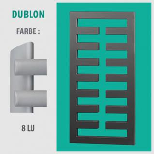 DUBLON - BADHEIZKÖRPER MITTELANSCHLUSS HEIZKÖRPER (Farbe: 8LU, Höhe: 750 mm)