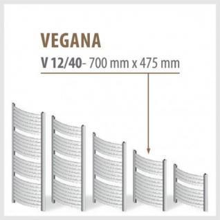 VEGANA Weiß - Badheizkörper Handtuchheizkörper Handtuchheizung (Höhe: 700 mm, Breite: 475 mm)
