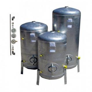 Druckbehälter 100L bis 300L mit Zubehör 9 bar senkrecht verzinkt Druckkessel verzinkt für Hauswasserwerk senkrecht (Volumen: 200 L)