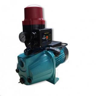 Wasserpumpe 60 l/min 1, 1 kW 230V mit Brio Schalter Trockenlaufschutz Jetpumpe Gartenpumpe Hauswasserwerk Kreiselpumpe