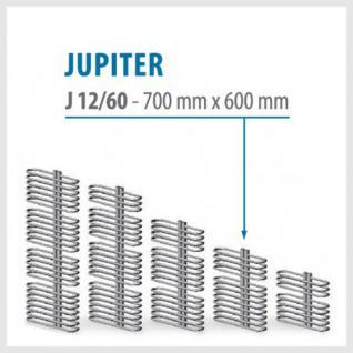 JUPITER Anthrazit - BADHEIZKÖRPER MITTELANSCHLUSS HEIZKÖRPER (Höhe: 700 mm, Breite: 600 mm)