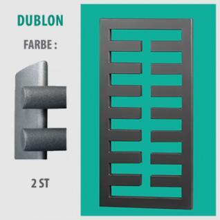 DUBLON - BADHEIZKÖRPER MITTELANSCHLUSS HEIZKÖRPER (Farbe: 2ST, Höhe: 450 mm)