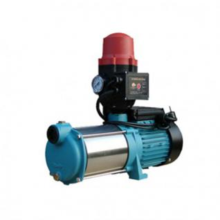 Wasserpumpe 130 l/min 1, 65 kW 230V mit Trockenlaufschutz Jetpumpe Gartenpumpe Hauswasserwerk Kreiselpumpe