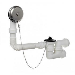 Badewanne Ablaufgarnitur ßberlaufgarnitur Wannenablauf DN 50 54 l/min Stofpen Siphon Geruchsverschluss