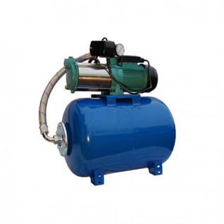 Wasserpumpe 1300-2200W 100l/min 24-100L Druckbehälter Gartenpumpe Hauswasserwerk Set (Leistung: 1800 W, Druckbehälter: 24 L)