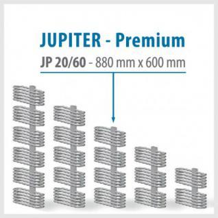 JUPITER PREMIUM Silver - BADHEIZKÖRPER MITTELANSCHLUSS HEIZKÖRPER (Höhe: 880 mm, Breite: 600 mm)