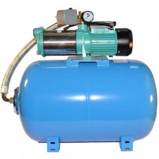Wasserpumpe 130 l/min 2 kW 230V mit 50 bis 100L Druckkessel Jetpumpe Gartenpumpe Hauswasserwerk Kreiselpumpe (Druckbehälter: 50 L)