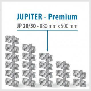JUPITER PREMIUM Weiß - BADHEIZKÖRPER MITTELANSCHLUSS HEIZKÖRPER (Höhe: 880 mm, Breite: 500 mm)
