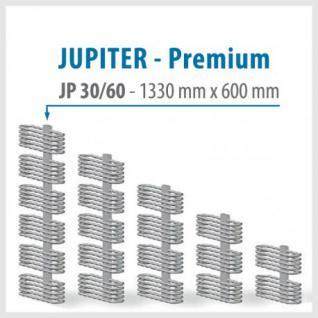 JUPITER PREMIUM Silver - BADHEIZKÖRPER MITTELANSCHLUSS HEIZKÖRPER (Höhe: 1330 mm, Breite: 600 mm)