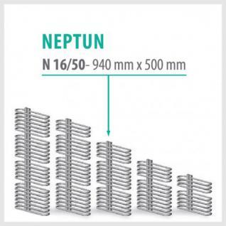 NEPTUN Anthrazit - Badheizkörper Handtuchheizkörper Handtuchheizung (Höhe: 940 mm, Breite: 500 mm)