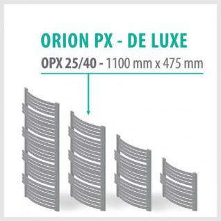 Orion Premium Anthrazit - Badheizkörper Handtuchheizkörper Handtuchheizung Handtuchheizer (Höhe: 1100 mm, Breite: 475 mm)