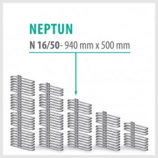 NEPTUN weiß - Badheizkörper Handtuchheizkörper Handtuchheizung (Höhe: 940 mm, Breite: 500 mm)