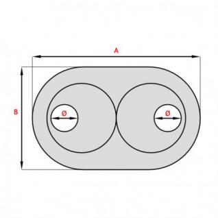 Abdeck Doppelrosetten 10 Stk. für Heizungsrohr Kupferrohr Heizkörper 15-28 weiß UVP (Durchmesser: 16 mm) - Vorschau 2