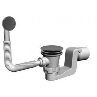 Badewanne Ablaufgarnitur ßberlaufgarnitur Wannenablauf DN 50 Chrom Push Up 51 l/min Siphon Geruchsverschluss