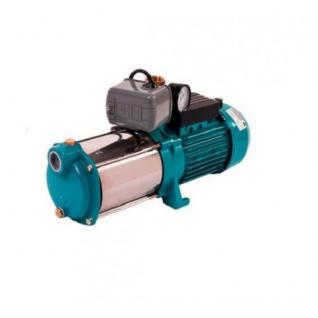 Wasserpumpe 130 l/min 2 kW 230V mit Druckschalter und Manometer Jetpumpe Gartenpumpe Hauswasserwerk Kreiselpumpe