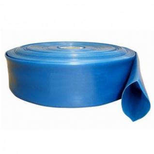 """Flexibler PVC Wasser Flachschlauch 1 Zoll bis 2 Zoll 10-50m Gartenschlauch UVP (Type: 2"""" DN50 25m)"""
