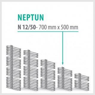 NEPTUN Anthrazit - Badheizkörper Handtuchheizkörper Handtuchheizung (Höhe: 700 mm, Breite: 500 mm)