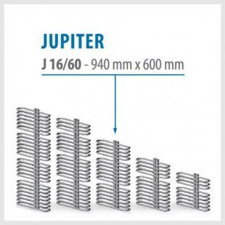 JUPITER Anthrazit - BADHEIZKÖRPER MITTELANSCHLUSS HEIZKÖRPER (Höhe: 940 mm, Breite: 600 mm)