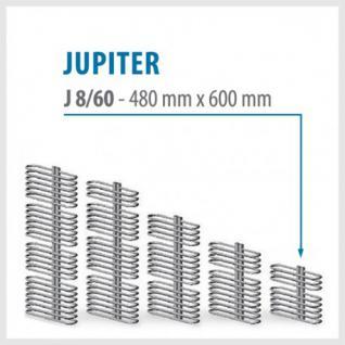 JUPITER Weiß - BADHEIZKÖRPER MITTELANSCHLUSS HEIZKÖRPER (Höhe: 480 mm, Breite: 600 mm)