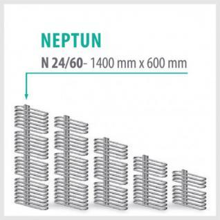 NEPTUN Anthrazit - Badheizkörper Handtuchheizkörper Handtuchheizung (Höhe: 1400 mm, Breite: 600 mm)