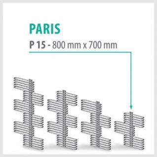 PARIS Anthrazit - Badheizkörper Handtuchheizkörper Handtuchheizung (Höhe: 800 mm)
