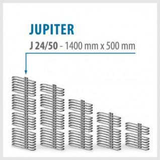 JUPITER Weiß - BADHEIZKÖRPER MITTELANSCHLUSS HEIZKÖRPER (Höhe: 1400 mm, Breite: 500 mm)