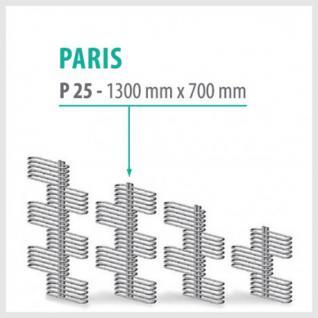 Paris Weiß - Badheizkörper Handtuchheizkörper Handtuchheizung (Höhe: 1300 mm)