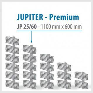 JUPITER PREMIUM Silver - BADHEIZKÖRPER MITTELANSCHLUSS HEIZKÖRPER (Höhe: 1100 mm, Breite: 600 mm)
