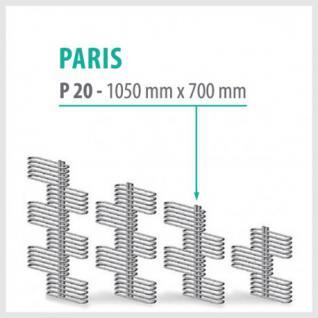 Paris Weiß - Badheizkörper Handtuchheizkörper Handtuchheizung (Höhe: 1050 mm)