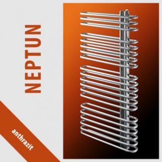 NEPTUN Anthrazit - Badheizkörper Handtuchheizkörper Handtuchheizung (Höhe: 1400 mm, Breite: 500 mm) - Vorschau 2