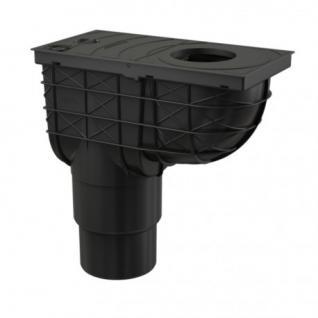 Regenrohrablauf Regensinkkasten Senkrecht Dachrinnenablauf Regenwasser Einlauf ß80-125mm Ablauf DN110/125 mm