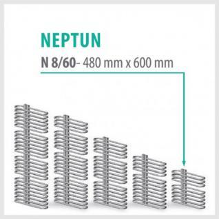NEPTUN Anthrazit - Badheizkörper Handtuchheizkörper Handtuchheizung (Höhe: 480 mm, Breite: 600 mm)