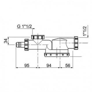 Niedriges Siphon für die Spüle Modell Espace - Vorschau 2