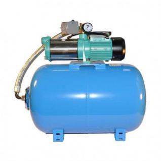 Wasserpumpe 130 l/min 1, 65 kW 230V mit 50 bis100L Druckkessel Jetpumpe Gartenpumpe Hauswasserwerk Kreiselpumpe (Druckbehälter: 50 L)