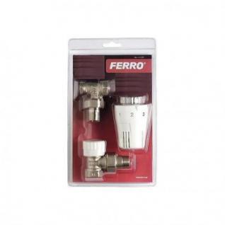 "Thermostat Set Ferro Eck 1/2"""