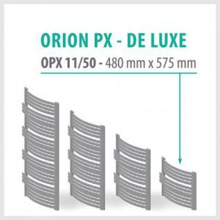 Orion Premium Anthrazit - Badheizkörper Handtuchheizkörper Handtuchheizung Handtuchheizer (Höhe: 480 mm, Breite: 575 mm)