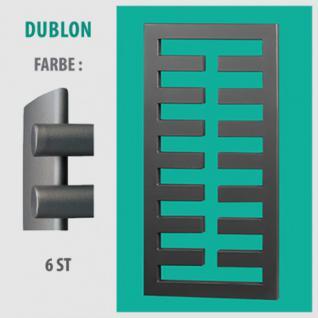 DUBLON - BADHEIZKÖRPER MITTELANSCHLUSS HEIZKÖRPER (Farbe: 6ST, Höhe: 450 mm)