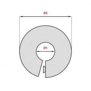 Abdeck Rosetten 10 Stk Fur Heizungsrohr Kupferrohr Heizkorper 15 28