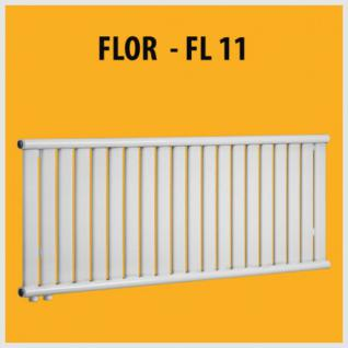 FLOR - FL11 Design PANEELHEIZKÖRPER HEIZKÖRPER FLACH TOP (Höhe: 380 mm, Breite: 780 mm)