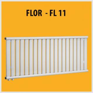 FLOR - FL11 Design PANEELHEIZKÖRPER HEIZKÖRPER FLACH TOP (Höhe: 580 mm, Breite: 1200 mm)
