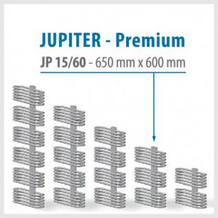 JUPITER PREMIUM Silver - BADHEIZKÖRPER MITTELANSCHLUSS HEIZKÖRPER (Höhe: 650 mm, Breite: 600 mm)