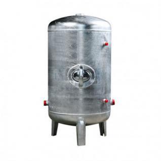 Druckbehälter 100 bis 500L 6 bar senkrecht verzinkt Druckkessel verzinkt für Hauswasserwerk senkrecht (Volumen: 200 L)
