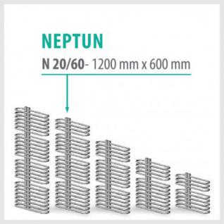 NEPTUN Anthrazit - Badheizkörper Handtuchheizkörper Handtuchheizung (Höhe: 1200 mm, Breite: 600 mm)
