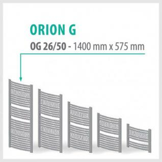 Orion-G Weiß - Badheizkörper Handtuchheizkörper Handtuchheizung Handtuchheizer (Höhe: 1400 mm)
