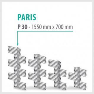 Paris Weiß - Badheizkörper Handtuchheizkörper Handtuchheizung (Höhe: 1550 mm)