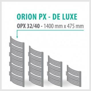 Orion Premium Anthrazit - Badheizkörper Handtuchheizkörper Handtuchheizung Handtuchheizer (Höhe: 1400 mm, Breite: 475 mm)