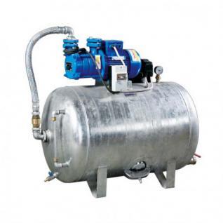 Hauswasserwerk 1, 1 kW 230-400V 100-200L Druckbehälter verzinkt Druckkessel Set (Volumen: 200 L, Netzanschluss: 400 V)