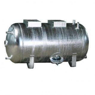 Druckbehälter 100 bis 300L 6 bar liegend Druckkessel verzinkt für Hauswasserwerk (Volumen: 100 L)